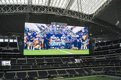 Dallas Cowboys Take The Field Poster by Craig David Morrison