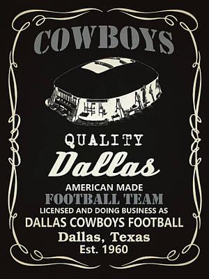 Dallas Cowboys Whiskey Poster