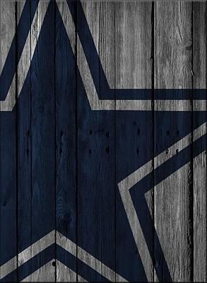 Dallas Cowboys Wood Fence Poster by Joe Hamilton