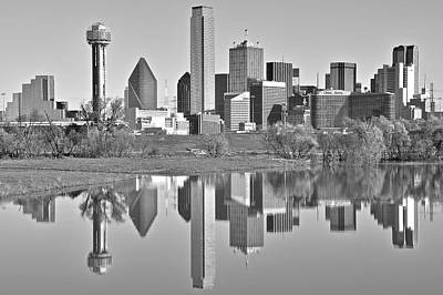 Dallas Monochrome Poster by Frozen in Time Fine Art Photography