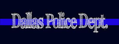 Dallas Police Dept. Blue Line Mug Poster