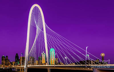 Dallas Skyline Purple Poster