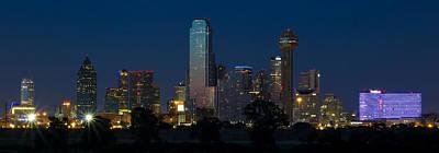 Dallas Skyline Trinity Panorama Poster by Jonathan Davison