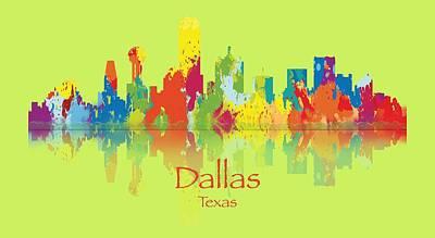 Dallas Texas Tshirts And Accessories Art Poster by Loretta Luglio