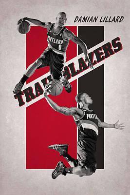 Damian Lillard Portland Trail Blazers Poster by Joe Hamilton