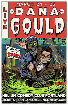 Dana Gould At The Helium Comedy Club Poster by Mark Tavares