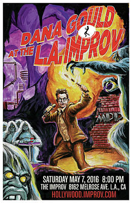 Dana Gould At The L.a. Improv Poster by Mark Tavares