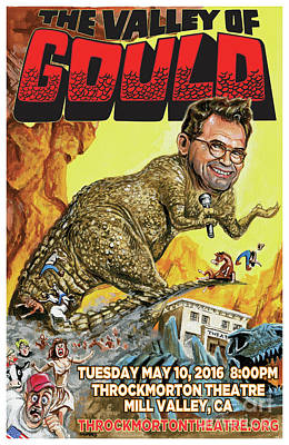 Dana Gould At The Throckmorton Theatre Poster by Mark Tavares
