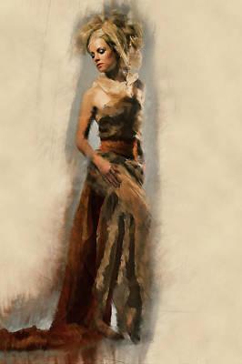 Dance Of Gold Poster by Georgiana Romanovna