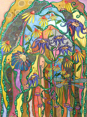 Poster featuring the painting Dance Of Life by Tanielle Childers