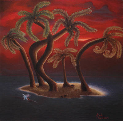 Dance Of The Coconut Palms Poster by Amanda Clark