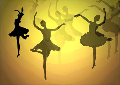 Dance With Us Into The Light Poster by Joyce Dickens