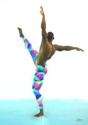 Dancer Colorful Poster by Quim Abella