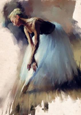 Dancer In Blue Poster by H James Hoff