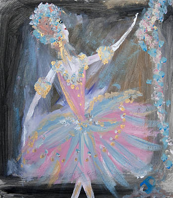 Dancer In Pink Tutu Poster