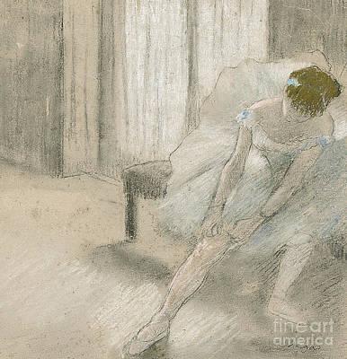 Dancer Seated, Readjusting Her Stocking Poster