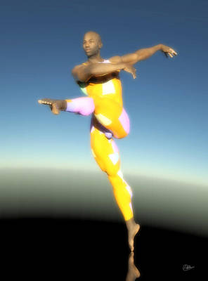 Dancer With Yellow Leotards Poster