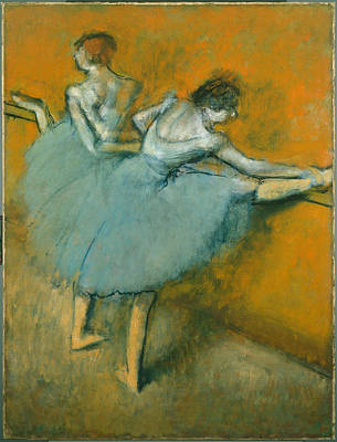 Dancers At The Barre  1900 Poster
