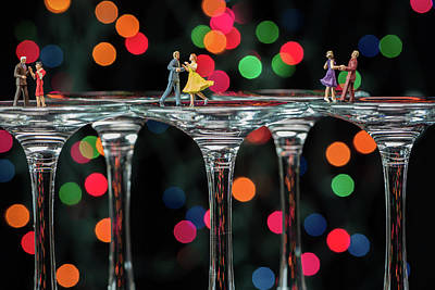 Dancers On Wine Glasses Poster