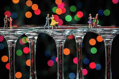 Dancers On Wine Glasses Poster