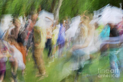 Dancing At The Music Festival Poster