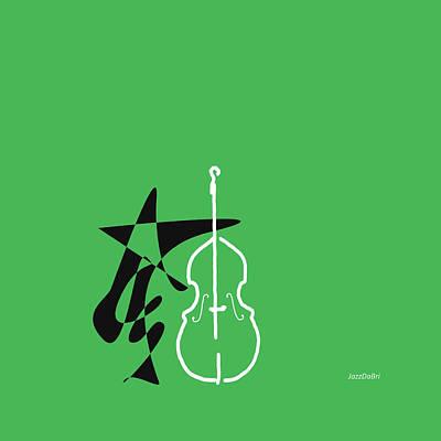 Dancing Bass In Green Poster by David Bridburg