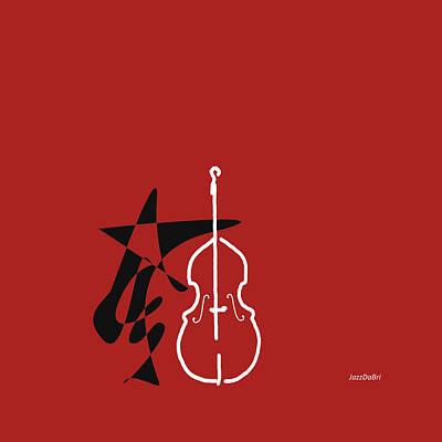 Dancing Bass In Orange Red Poster by David Bridburg