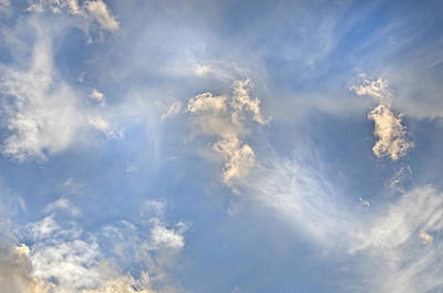 Poster featuring the photograph Dancing Clouds by Wanda Krack