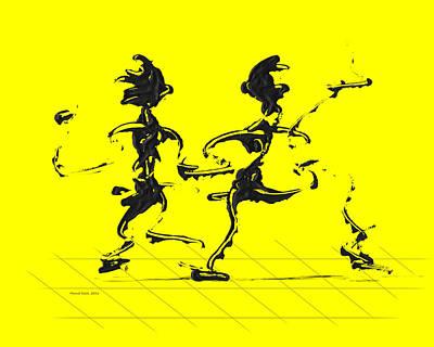 Dancing Couple 3 - Yellow Poster