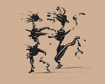 Dancing Couple 4 - Hazelnut Poster by Manuel Sueess