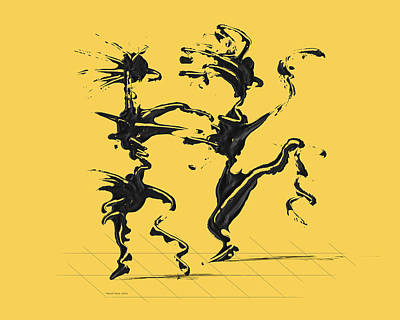 Dancing Couple 4 - Primrose Yellow Poster by Manuel Sueess