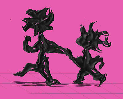 Dancing Couple 6 - Pink Poster by Manuel Sueess