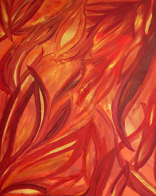 Dancing Flame Poster by Natosha Keefer