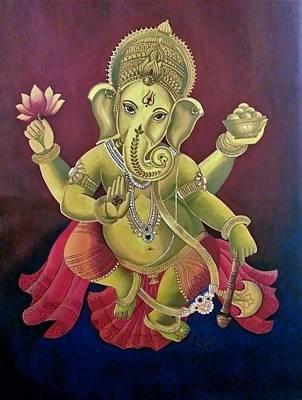 Dancing Ganesha Poster by Rupa Prakash