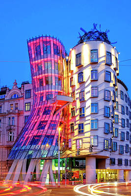 Poster featuring the photograph Dancing House by Fabrizio Troiani