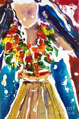 Dancing Hula Poster by Julie Kerns Schaper - Printscapes