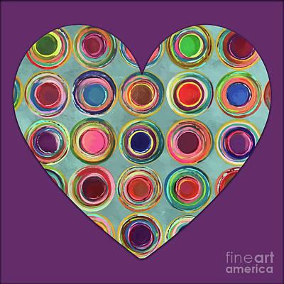 Dancing In Circles Heart Poster