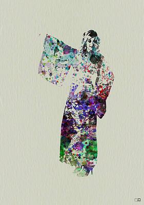Dancing In Kimono Poster by Naxart Studio