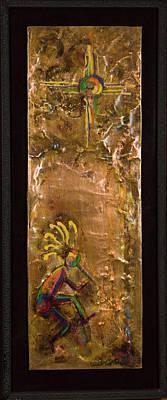 Dancing Kokopelli Under Zia. Poster