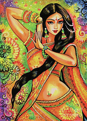 Poster featuring the painting Dancing Nithya by Eva Campbell