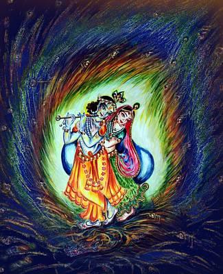 Dancing - Radha Krishna By Harsh Malik Poster by Harsh Malik