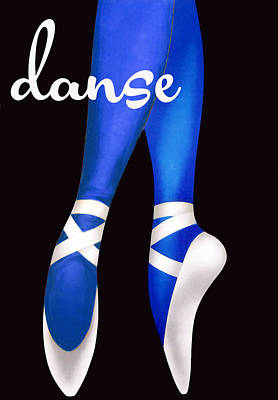 Dancing Shoes Poster by Mindy Sommers