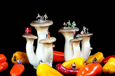 Dancing Show On Mushroom Poster