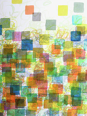 Dancing Squares Poster by Heidi Capitaine