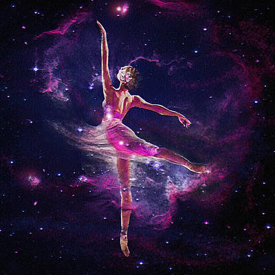Poster featuring the digital art Dancing The Universe Into Being 2 by Jane Schnetlage