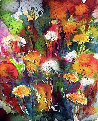 Dandelions Poster by Kovacs Anna Brigitta