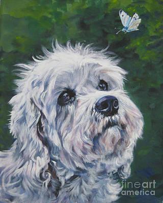 Dandie Dinmont Terrier Poster by Lee Ann Shepard