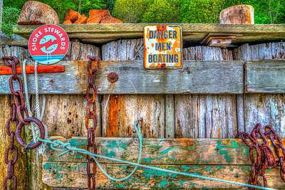 Danger Men Boating Poster by Spencer McDonald
