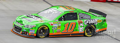 Danica Patrick At Bristol Motor Speedway Driving #10 Go Daddy St Poster