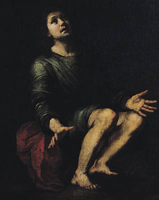 Daniel In The Lions' Den Poster by Bartolome Esteban Murillo